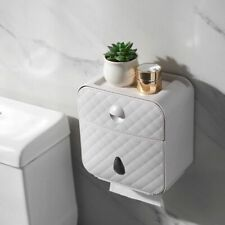Bathroom Roll Paper Holder Waterproof Towel Tissue Storage Shelf Wall-mount Case