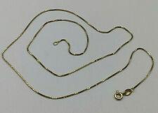 "18ct Gold Hallmarked 20"" Fine Box Link Chain.  Goldmine Jewellers."