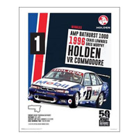 "HOLDEN COMMODORE VR POSTER - LOWNDES MURPHY 1996 BATHURST - 50 x 40 cm 20"" x 16"""