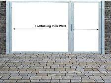 Einfahrtstor Qas Tor Verzinkt mit Pfosten Ohne Holzfüllung 2-flügelig 400x180cm