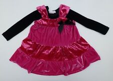 Greggy Girl Girls Size 2T Black & Pink Velour Dress Great Condition