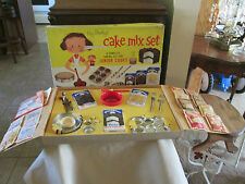 Vintage Kay Stanleys  Cake Mix Set Pillsbury Best Cake Mixes # 71 Junior Cooks