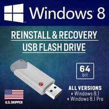 Windows 8.1 USB Bootable Reinstall Upgrade Restore Repair All Versions 64-bit