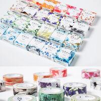 1Pc Flower Pattern Washi Tape DIY Paper Sticky Adhesive Sticker Decor Tape Roman