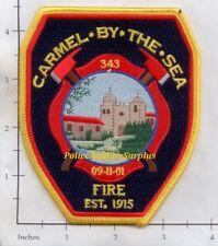 California - Carmel By The Sea Fire Dept Patch v2 - 9-11-01