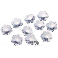 10 Clear Snowflake Crystal Beads Chandelier Lamp Prisms Suncatcher Pendants 30mm