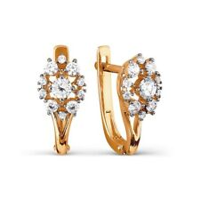 585/14ct Rose Gold Earrings with Crystal Swarovski