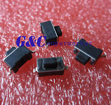 50x Tactile Pushbutton Key Switch Momentary Tact SMD 2 Pins 3*6*5mm Black