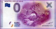 UE DX-1 / MONTPELLIER LE VIEUX / BILLET SOUVENIR 0 EURO / 2015-1