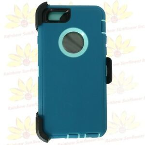 """For iPhone 6S Plus (5.5"""")Case Cover (Clip fits Otterbox Defender)CYAN TEAL"""