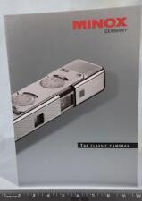 Minox Classic Camera Brochure / Catalog Guide 1998 g25