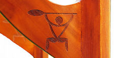 New Set Carved Ancient Hawaiian Paddler Motif Stand Up Surfboard Sup Wall Racks