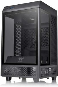 Thermaltake The Tower 100 Mini Tower PC Case with 3 Tempered Glass Panels CA-1R3