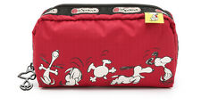 NWT LeSportsac Peanuts Snoopy Happy Dance Red Rectangular Cosmetic Case