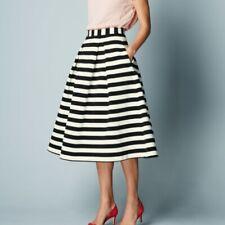 Boden 4 Maggie Ottoman Skirt Striped Black/White