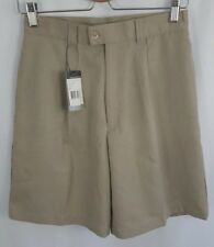 Greg Norman Women's Play Dry Collection Khaki Pleated Golf Shorts Size 4 ~ NEW