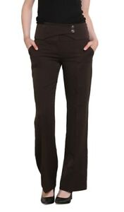 Ladies straight leg Office style Work Trousers Brown Sizes UK  8 10 12 14
