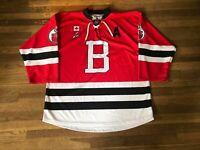 Brock Hill Brantford 99ers Red Game Used Jersey OJHL CJHL Saginaw Spirit
