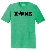 Mens Home Texas Map Lonestar State Shirt Tri-Blend Tee State Pride