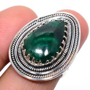 Malachite - Congo Gemstone 925 Sterling Silver Bali Ring s.6 S2655