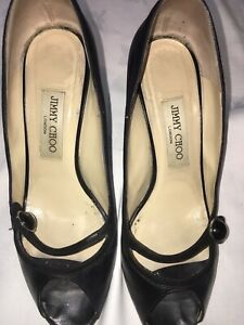 Jimmy Choo Heart Leather Suede Courts EU 37.5 UK 4.5 Used GC RRP £320