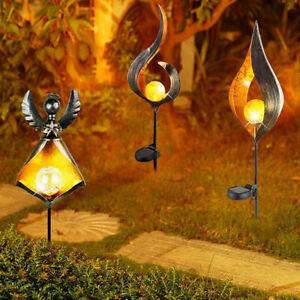 Solar Powered LED Light Stake Lawn Lamp Garden Patio Landscape Decor ONY