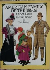 american family of the 1890s paper dolls uncut
