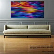 Original Pintura Abstracta-Sky-Óleo sobre lienzo grande-Arte Contemporáneo Moderno