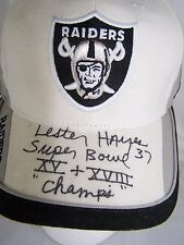 OAKLAND RAIDERS NFL LESTER HAYES SIGNED #37 HAT CAP XV XVIII SUPER BOWL CHAMPS