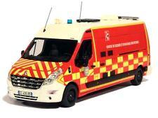 Camion de Sapeurs Pompiers RENAULT MASTER LONG DAMIER VSAV 38 1/43 ALERTE