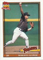 Roberto Alomar 1991 Topps #315 San Diego Padres Baseball card Hall of Fame HOF