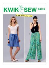Kwik Sew Sewing Pattern K4178 Size XS-XL Misses' Wrap Shorts Pants Learn To Sew