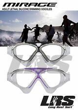 NEW CBI Adults Silicone Lethal swimming goggles. Comfortable fit