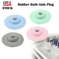 Silicone Kitchen Bathroom Sink Strainer Drain Stopper Basin Tub Hair Catcher New