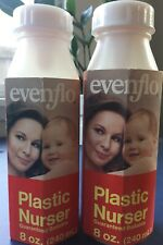 Evenflo Vintage Plastic Baby Bottle Lot Of Two New Complete 1977