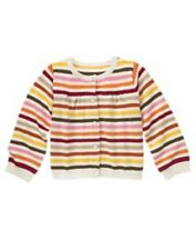 NWT Gymboree Girls Purrfect Autumn Multi Color Striped Cardigan Size XS (3-4)
