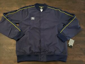 Men's Umbro Premier League Track Jacket - Blue/Yellow/White [ Size L ]