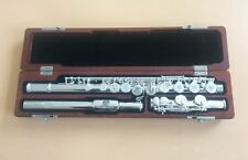 Excellence 16 open hole flute C Key  silver plated  Great tone +wooden case