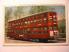 Double Deck Trolley Car Largest in the World in Pittsburgh PA OLD