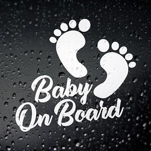 Baby On Board Funny Car Sticker - Child Children Window Bumper Vinyl Decal