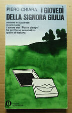 1978=I GIOVEDI' DELLA SIG.GIULIA= P.CHIARA.Romanzo - Avventura Lieto Fine...ETNA