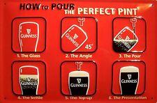 Guinness perfect Pint Blechschild Schild 3D geprägt gewölbt Tin Sign 20 x 30 cm