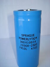 SPRAGUE 22000UF 25V COMPUTER GRADE SCREW TERMINAL BUS CAPACITOR