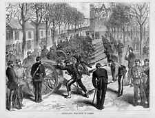ARTILLERY PRACTICE IN PARIS FRENCH RECRUITS INTO SOLDIERS CANON GUNS NOTRE DAME