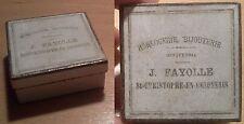 ancienne boite carton horlogerie bijouterie Fayolle début XX ème