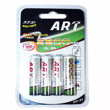 ART T-02 4 Pezzi AA Batterie 2800 mAh Ricaricabili