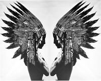 Indian Native Street Art Graffiti Painting  Print Canvas Eagle Head Twin large