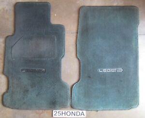 1991-1995 Acura Legend Black Accessory Front OEM Floor Mats KA7 KA8 Rare
