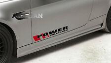 POWER UNLEASHED Decal Sticker sport car racing door logo performance motorsport