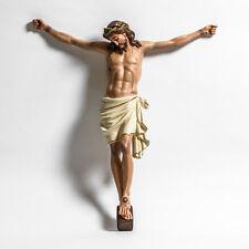 "33"" COLORED CORPUS HEAD DOWN JESUS CHRIST CROSS - (RELIGIOUS CHURCH STATUARY)"